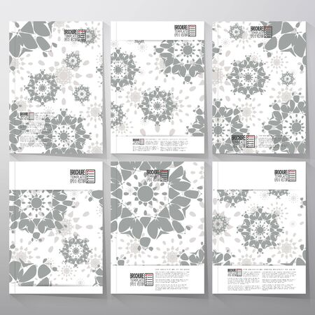 Abstract floral modern stylish geometric background. Simple abstract monochrome texture. Brochure, flyer or booklet for business, template vector. Vector