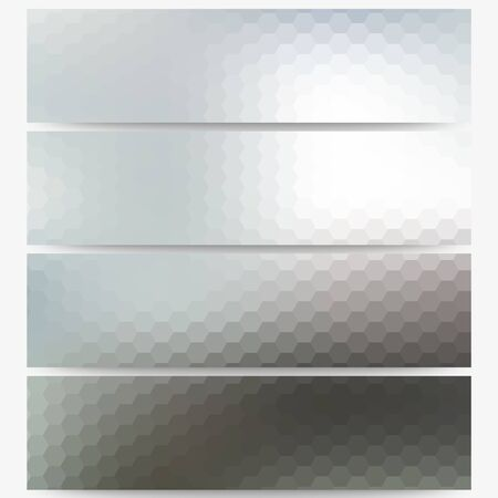 Abstract unfocused natural headers, blurred design. Vector