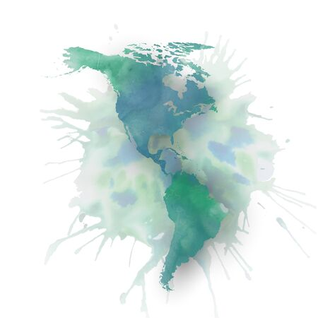 North and south America map element Vector