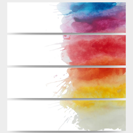 bunner: Abstract hand drawn watercolor background with empty place for text message, great composition for your design.