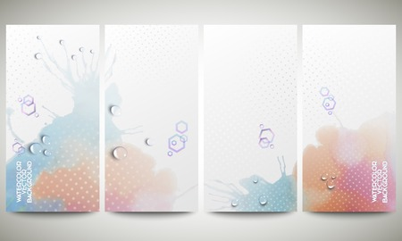 Abstract hand drawn watercolor background with empty place for text message, great composition for your design.  Vector