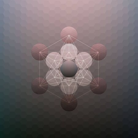 hexagone: Abstract pattern on blurred hexagonal background, minimalistic geometric template, vector illustration.