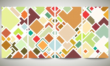 perforate: Abstract colored collection, flyer layouts templates. Abstract colored backgrounds, square design.