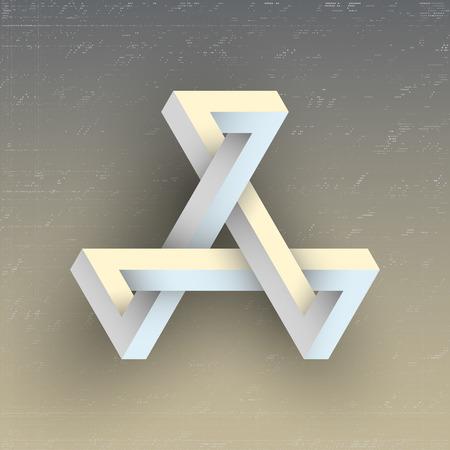 unreal: Unreal geometric figure, element for design.