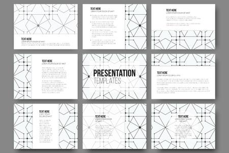 slides: Set of 9 templates for presentation slides.
