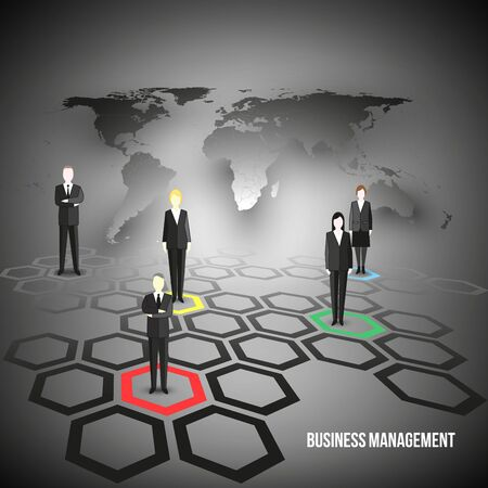 business team: Group of a professional business team. Illustration