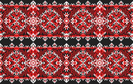 european culture: Ukrainian folk art. Traditional national embroidered seamless pattern. Abstract vector texture.