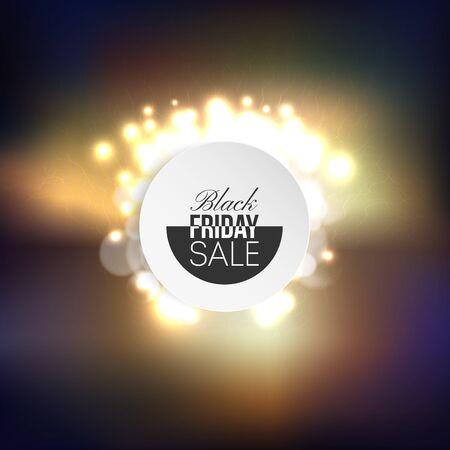sales promotion: Black friday element, colorful design sale banner with fireworks Illustration