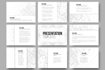 set of  templates for presentation slides. abstract vector, Templates