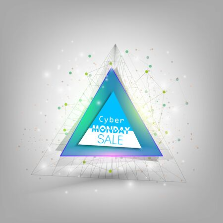 print design: Cyber monday banner, colorful style element for your design, vector illustration.