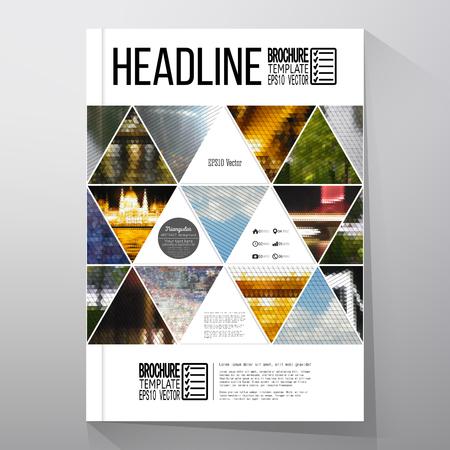 Modelli di business per brochure, flyer o libretto. Abstract sfondo multicolore di paesaggi naturali, vettore geometrico, triangolare illustrazione di stile. Archivio Fotografico - 48366150