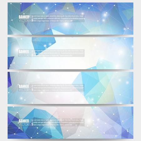 digital art: Set of modern vector banners. Abstract multicolored background. Scientific digital design, science illustration. Illustration