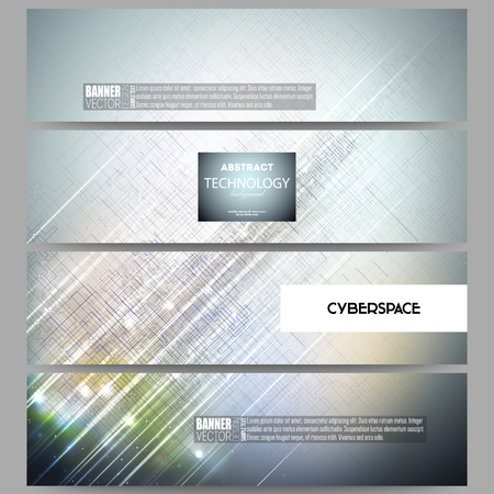 backdrop design: Set of modern vector banners. Abstract science or technology vector background.