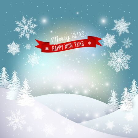 merry: Christmas greeting card. Merry Xmas and happy New Year vector background.