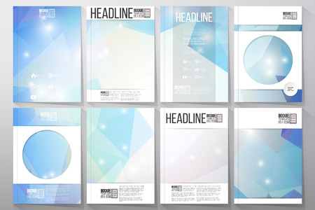 Set of business templates for brochure, flyer or booklet. Abstract multicolored background. Scientific digital design, science vector illustration. Ilustração