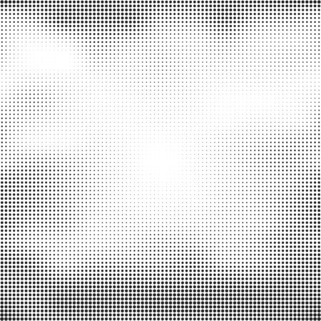 grunge shape: Halftone seamless vector background. Abstract halftone effect with black dots on white background.