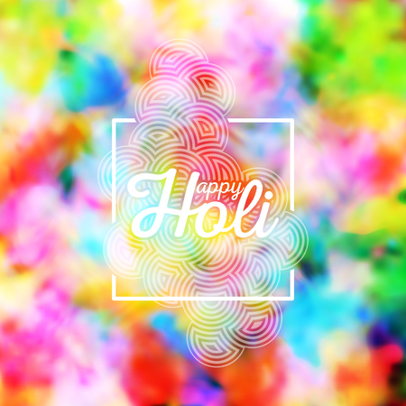 dhulandi: Colorful background for Holi celebration, vector illustration.