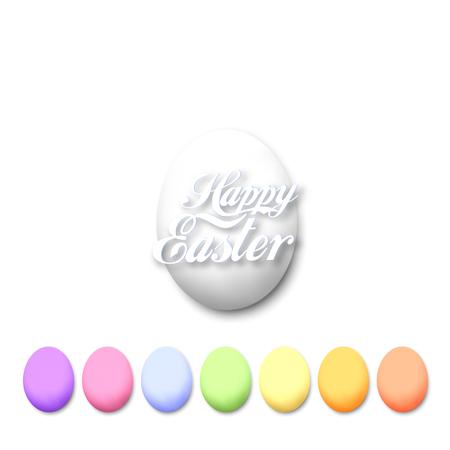 illustation: Set of colorful eggs isolated on white, vector illustation. Illustration