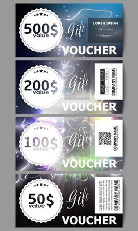 vouchers: Set of modern gift voucher templates.