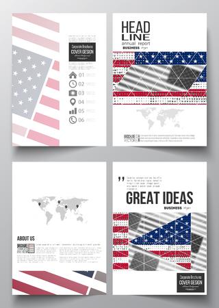 set of business templates for brochure magazine flyer booklet