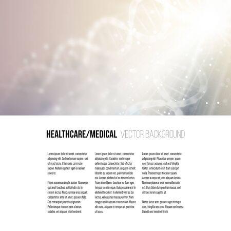 adn: Modelo del asunto para el folleto, revista, folleto, folleto o informe anual. Estructura de la molécula de ADN en un fondo azul. La ciencia de vectores de fondo.