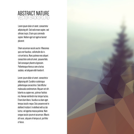 shape triangle: Business template for brochure, magazine, flyer, booklet or annual report. Abstract colorful polygonal backdrop, blurred background, mountain landscape, modern stylish triangle vector texture.