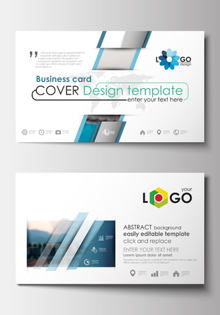 Business card templates flat design blue color travel decoration business card templates flat design blue color travel decoration layout easy editable vector template friedricerecipe Images