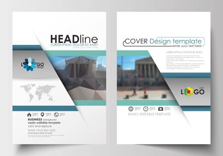 image size: Business templates for brochure, magazine, flyer, booklet or annual report. Cover design template, easy editable blank, abstract flat layout in A4 size. Abstract business design, blurred image, urban landscape, modern stylish vector.