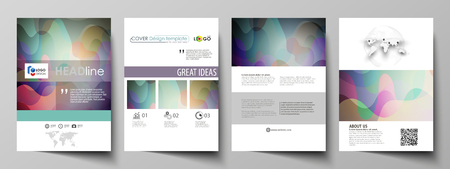 blank banner: Business templates for brochure, magazine, flyer, booklet or annual report. Cover design template, easy editable vector, abstract flat layout in A4 size. Bright color pattern, colorful design with overlapping shapes forming abstract beautiful background.
