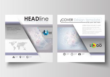 Business-Vorlagen Für Quadratische Design Broschüre, Magazin, Flyer ...