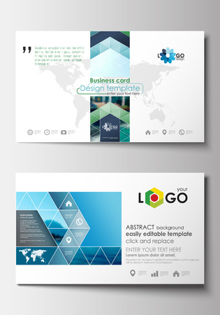 Business card templates flat design blue color travel decoration business card templates flat design blue color travel decoration layout easy editable vector template cheaphphosting Gallery