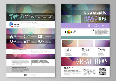 Blog graphic business templates page website design template blog graphic business templates page website design template flat style vector layout colorful friedricerecipe Choice Image