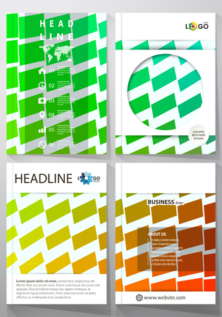 moving in: Business templates for brochure, magazine, booklet or annual report. Cover design template, easy editable, abstract flat layout in A4 size. Colorful rectangles, moving dynamic shapes forming abstract polygonal style background. Illustration
