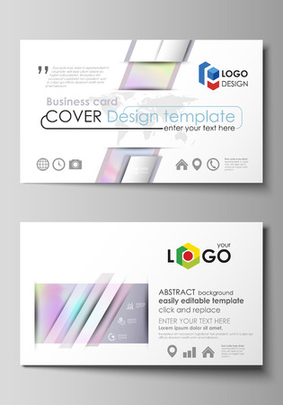Business card templates easy editable layout abstract design business card templates easy editable layout abstract design template hologram background in friedricerecipe Gallery