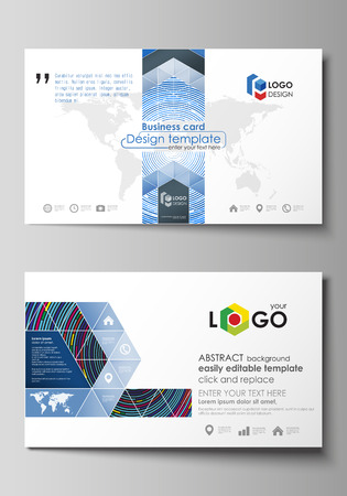 Business card templates easy editable layout abstract vector business card templates easy editable layout abstract vector design template stock vector wajeb Images