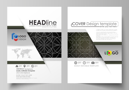 celt: Business templates for brochure, magazine, flyer, booklet, report. Cover design template, vector layout in A4 size. Celtic pattern. Abstract ornament,vintage texture, medieval ethnic style. Illustration