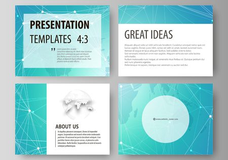 visualize: The minimalistic abstract vector illustration of the editable layout of the presentation slides design business templates. Chemistry pattern. Molecule structure. Medical, science background.