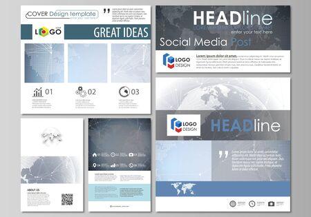 editable layout of modern social media post design templates royalty