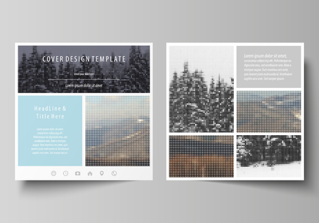 Business Templates For Square Design Brochure Magazine Flyer Booklet Annual Report