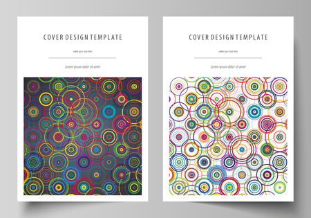 size: Business templates for brochure, magazine, flyer, booklet, report. Cover design template, abstract vector layout in A4 size. Bright color background in minimalist style.