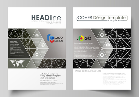 celtic: Business templates for brochure, magazine, flyer, booklet, report. Cover design template, vector layout in A4 size. Celtic pattern. Abstract ornament, geometric vintage texture, medieval ethnic style.