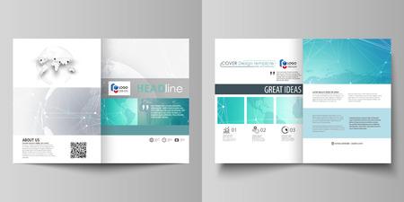 두 A4 형식 현대의 편집 가능한 레이아웃의 최소한의 벡터 일러스트 레이 션 브로셔, 전단지, 보고서에 대 한 디자인 서식 파일을 다루고 있습니다. 화