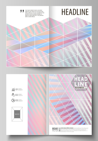 Business templates for bi-fold brochure, booklet or report