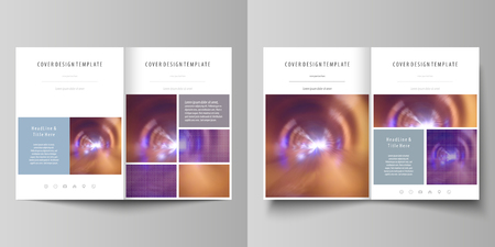 bi: Business templates for bi fold brochure, magazine, flyer, booklet or annual report. Cover template, abstract vector layout in A4 size. Illustration