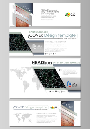 commercial medicine: Social media and email headers set, modern banners. Business templates. Vector layouts in popular sizes.