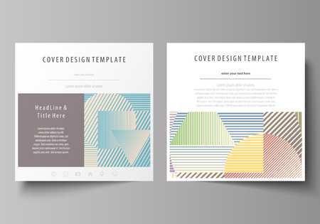 advertising material: Business templates for square design brochure, magazine, booklet or annual report.