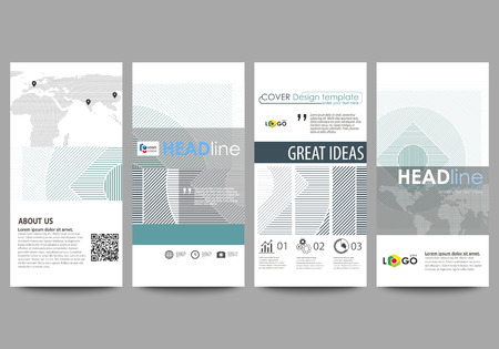 graphic display cards: Flyers set, modern banners. Business templates. Cover design template, abstract vector layouts.