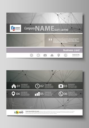 Business card templates easy editable layout abstract vector business card templates easy editable layout abstract vector design template chemistry pattern reheart Gallery