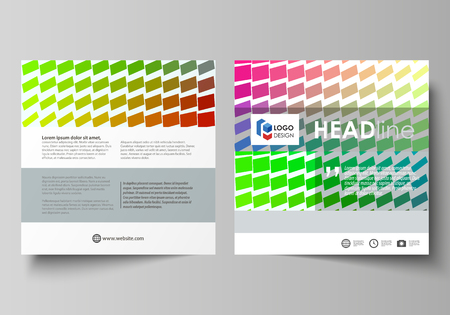 rectangle: Business templates for square design brochure, magazine, flyer, booklet or annual report. Leaflet cover, abstract flat layout, easy editable vector.
