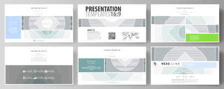 Business templates in HD format for presentation slides. Easy editable abstract vector layouts in flat design. Illustration